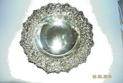 "S. Kirk & Son Co. Sterling Silver Repousse 11 1/4"" Bowl  #227"