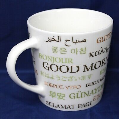Starbucks Good Morning Coffee Mug Different Multi Language 2007 16 Fl Oz Cup