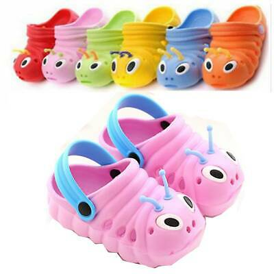Kid Boy Girls Solid Slip On Summer Beach Sandals Flats Casual Jelly Shoes Infant