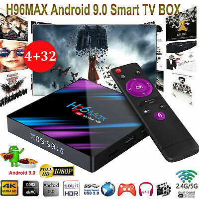 H96 MAX RK3318 Smart TV BOX Android 9.0 4GB 32GB Quad Core 1080p 4K LED Screen