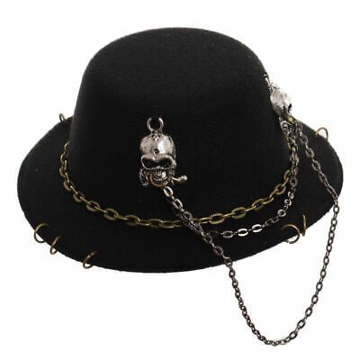 Gothic Lady Mini Top Hat With Skull Cross Hair Clip Hair Accessories Punk