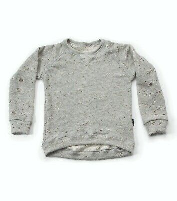 Brand New NUNUNU Light Grey Deconstructed Sweatshirt