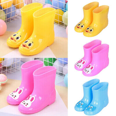 Kids Girls Boys Animal Wellington Boots Antip-slip Rain Wellies Shoes Waterproof