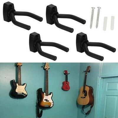 Adjustable 4X Guitar Hanger Wall Mount Display Bracket Hook Holder Bass Stand WA