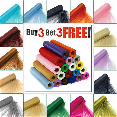 25M X 29CM Organza Roll Fabric Wedding Party Decor Chair Bows Table Runner Sash