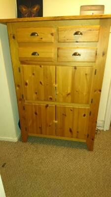 lovely wooden antique pine cupboard useful for storage