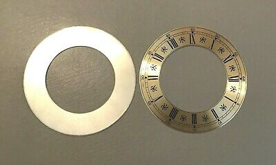 2 x Metal Replacement Clock Zone face Dial 4 inches 105mm Roman Numeral