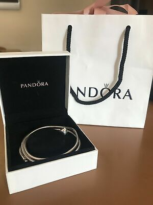 PANDORA Moments Snake Chain Necklace 40cm S925 ALE Sterling Silver + Box+ bag