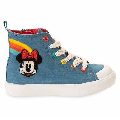 Disney Store Minnie Mouse Lace Up Trainers for Girls- UK Size 9,10,11,12,13 BNWT
