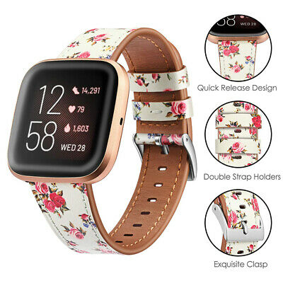 For Fitbit Versa 2/ Fitbit Versa Lite Genuine Leather Watch Band Strap Wristband
