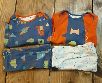Mothercare 12-18 Months Pyjamas Pjs Dinosaur Boys Girls Bundle
