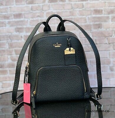 KATE SPADE NEW YORK CADEN CARTER LEATHER MD BACKPACK SHOULDER BAG $348 Black