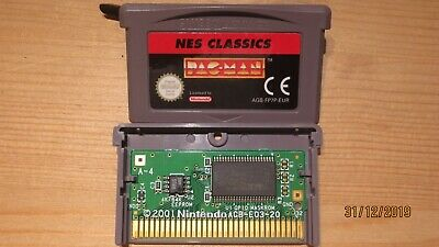NES Classics Pac-Man for Nintendo Gameboy Advance. Cart Only. Pal. Genuine