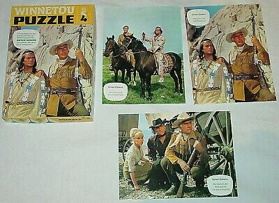 "KARL MAY - WINNETOU - PUZZLE 4 - "" UNTER GEIERN "" - 3 PUZZLE `s"