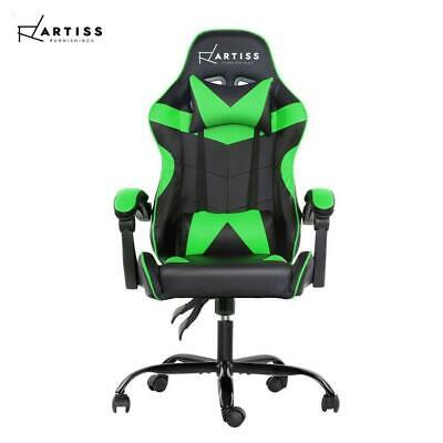 Artiss Gaming Chair Office Executive Computer Chairs Seating Racing Recliner- gr