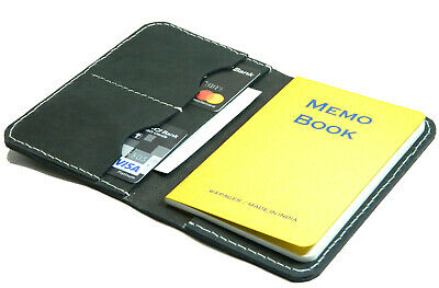 """Leather Journal Cover for Field Note Moleskine Leather Cover for 3.5""""x5.5"""" black"""