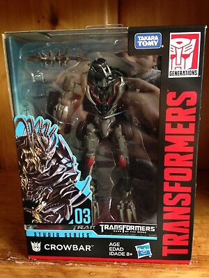 TRANSFORMERS Generations Movie Studio Series 003 Deluxe Crowbar TF3 FIGURE NEW