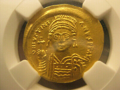 authentic Byzantine GOLD coin Justinian I , AD(527-565) SOLIDUS - 4.47g