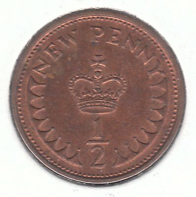 United Kingdom 1974 Half New Penny Bronze Coin - Crown of Henry VI