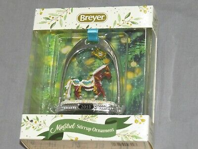 Breyer Horses 2019 Minstrel Stirrup Holiday Christmas Ornament 700320 Free Ship