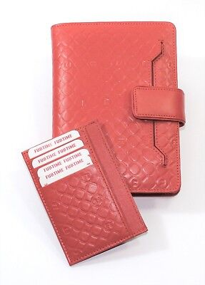 Cover Real Leather for Agenda Daily or Weekly Port Card Documents Woman