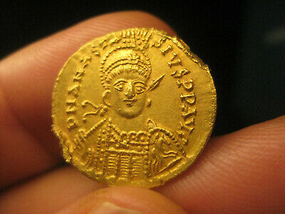 authentic Byzantine GOLD coin Anastasius I 491-518 SOLIDUS - 4.38g