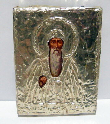 Antique Early 1900 Russian Orthodox Icons Saint John Of Rila # 441