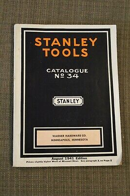 Stanley Tools Catalogue 34 Aug. 1941 Edition Warner Hardware Co. Minneapolis MN