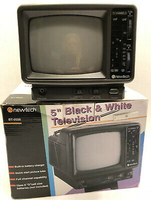 Vintage TV Newtech 5 Inch Black And White With Accessory Kit