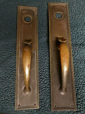Antique Brass Architectural Classic Door Plate Classical Colonial Pull Handle