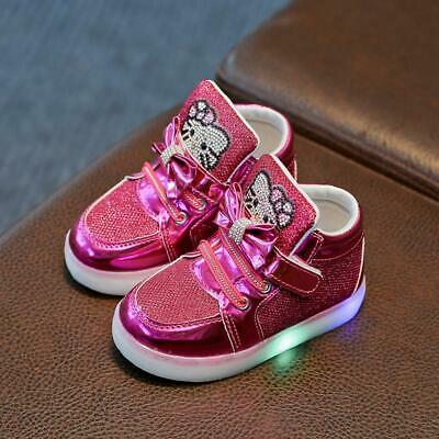 Hello Kitty Led Sneakers LED Light Lace Up Luminous Kids boy Shoes Girls Shoes