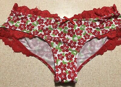 Vintage Victoria's Secret Smooth Silky Soft Panties Floral