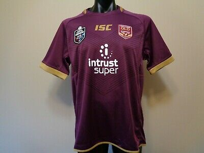 Official Licensed Isc State Of Origin Qld Maroons 2018 Jersey Mens Xl New