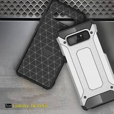 Hybrid Material Armor Tough Cover Case For Samsung Galaxy S8 Plus Note 9 S7 Edge