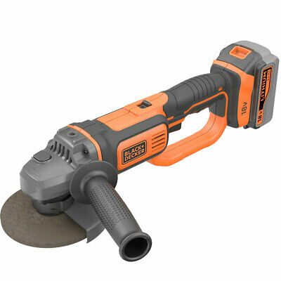 Black & Decker 18V Lithium-Ion Cordless Angle Grinder without Battery and Cha...