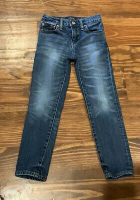 EUC Little Boys Polo Denim Blue Jeans Size 5