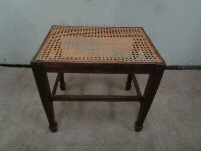 Edwardian?  Caned Stool  Rattan Cane Retro Dressing Table Piano Foot