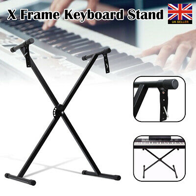 Heavy Duty Portable Adjustable X Frame Folding Keyboard Stand Piano With Straps