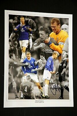 Duncan Ferguson Hand Signed Everton Football 12x16 Photograph : A