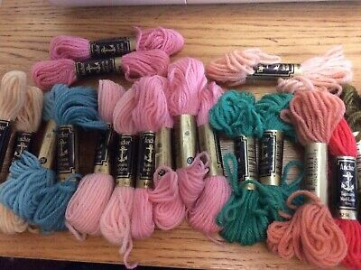Anchor Tapestry Wool Yarn 10m x 10 Skeins Pink 740  Sewing Crafting