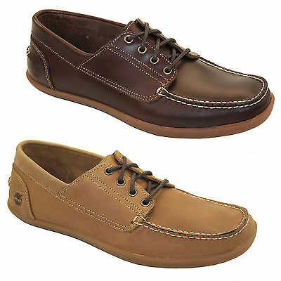 TIMBERLAND MENS ODELAY Lace Up 4 Eye Camp Moc Toe Casual