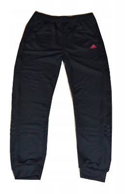 Adidas Tracksuit Bottoms Girls Black/Pink Size UK 9-10 Years *REF141