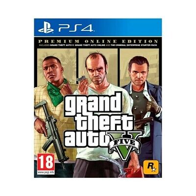 ✨Take 2 Ps4 Gta Grand Theft Auto 5 - Premium Online Edition Eu
