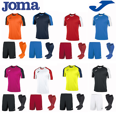 Joma Football Full Team Kit Sports Kids Boys Childrens Training Shirts Essential