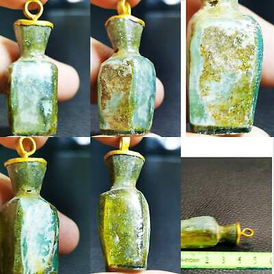 Pendant Lovely With Ancient Roman Glass Lovely Bottle   # 94
