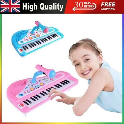 UK Kids Electronic Keyboard & Piano Instrument Toys Children 37 Key Play Music