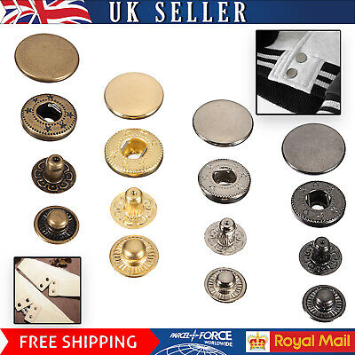 S Spring Snap Fastener Buttons Press Studs for Leathercrafts Jacket Belt Handbag