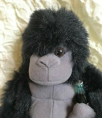 Coke Gorilla 1996 Plush with bottle of Coca Cola FREE SHIPPING