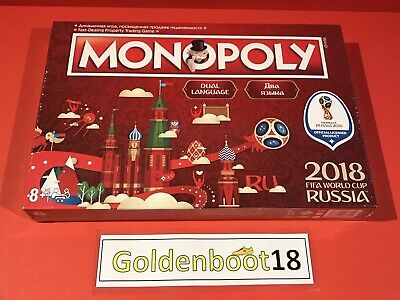 Fifa World Cup Russia 2018 Monopoly Football Board Game Party Family New Sealed