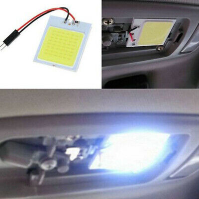 1x Car T10 4W 48 SMD COB LED HID Dome Map Light Interior Panel White Lamp Bulb
